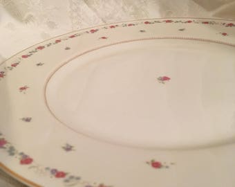 "Mikasa Fine China Vassar Rose L2820 Round 12"" Chop Plate Platter Cathy Hardwick"