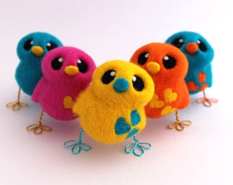 Needle Felted Yellow Bird Designs Your Own