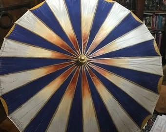 Hand painted vintage parasol