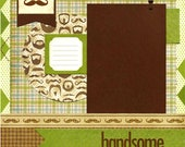 Handsome - 12x12 Premade Scrapbook Page