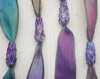 Lavender Glass Bead Jewelry - Custom Listing for Judy