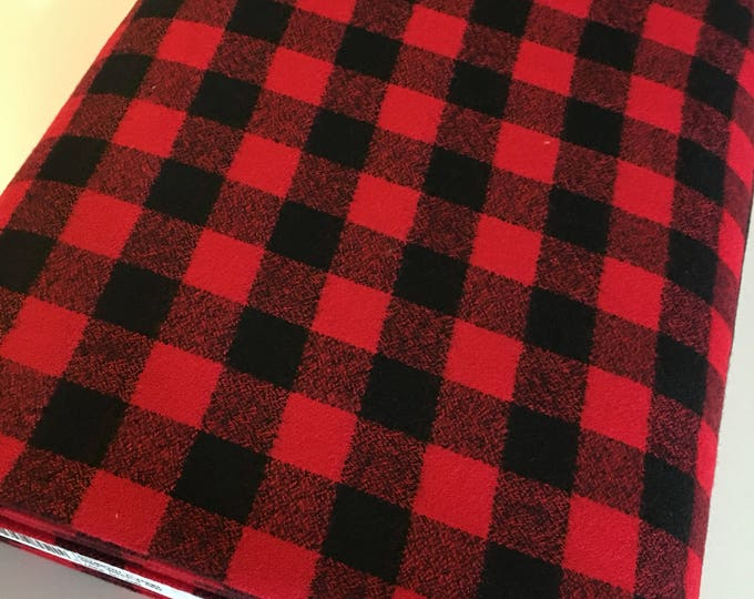 Red Plaid, Mammoth Plaid Flannel, Black Plaid, Lumberjack Party Flannel, Plaid Scarf fabric, Robert Kaufman, Mammoth Flannel in red