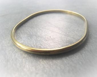 Gold Brass Bangle Oval Bangle Bracelet Item No. 0410 1535