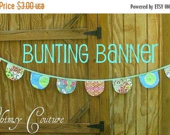 SALE Bunting Banners in 4 shapes Whimsy Couture Sewing Pattern Tutorial PDF
