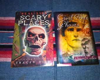 Scary Stories Book lot of 2 Real life Scary Places & Civil War Ghosts Halloween Creepy Stories Ghost Stories Free Shipping