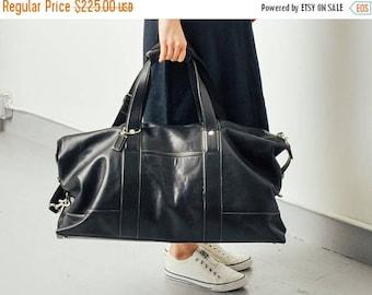 SALE Coach Black Leather Weekender Travel Bag