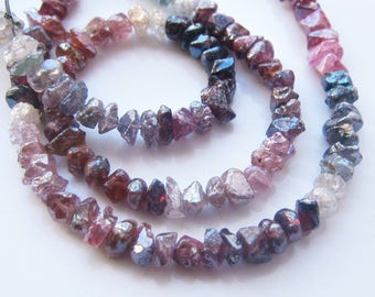 Stunning 1/2  Strand of Rare Mystic Multi Spinel Nuggets 3-4mm Semi precious Gemstone Beads