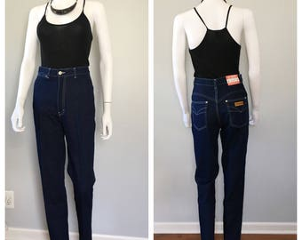 Vintage dark denim Gianto jeans Straight leg jeans highwaist jeans 27 waist