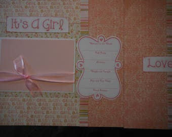 20 Baby Girl Premade 12x12 Scrapbook Pages for your family or gift for new mom