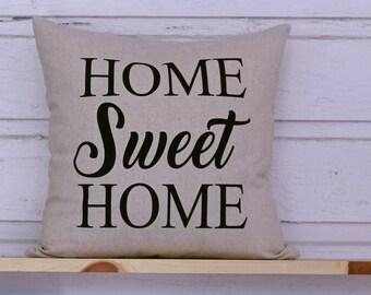 Home Sweet Home Pillow COVER, Country Pillow, Sofa Pillow, Throw Pillow, Porch Pillow,