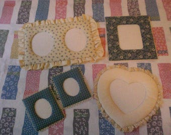 Fabric Picture Frame Lot