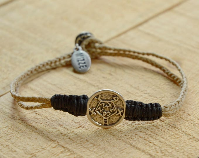 925 Sterling Silver Recovery & Healing Amulet on Handmade Charm Bracelet - Durable, for Men and Women