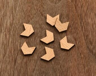 8 pcs Arrow Wooden  Cabochons  (WS-143)