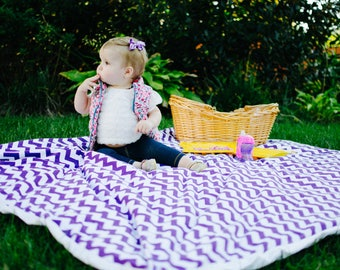 Beach Blanket - Picnic Blanket- Waterproof Blanket -  Summer Outdoors -  Waterproof Picnic Blanket - Knit Blanket - Blanket