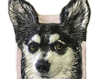 Chihuahua Semi-Custom CERAMIC Portrait Sculpture 3D Dog Art Tile Plaque FUNCTIONAL ART by Sondra Alexander In Stock ready to ship