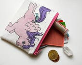 Cute and Useful Coin My Little Pony Pouch, Handmade & Upcycled, Holds Cash, Cards, Coins, Anything!