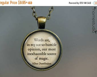 ON SALE - Dumbledore (Words) Quote jewelry. Necklace, Pendant or Keychain Key Ring. Perfect Gift Present. Glass dome metal charm by HomeStud