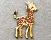 Baby Giraffe Enamel Lapel Pin