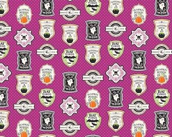 ON SALE Riley Blake Designs Eek Boo Shriek Purple Badge