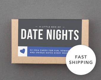 "Fun Stocking Stuffer. Boyfriend, Girlfriend, Husband, Wife, Partner, Him, Her. Under 50, 25, 20. Cheap, Affordable. ""Date Nights"" (L5DAT)"