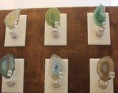 Natural Agate Nightlight,  Geode Nightlight,  Oblong Shaped Nightlight, Geode Slice, Natural Stone, Aqua Night Light, K5-10