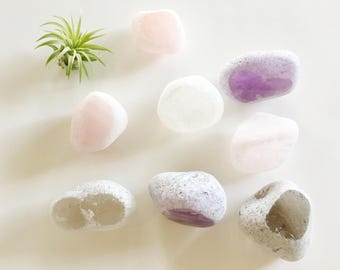 Rock Ema Stone // Seer Stone - Window Stone - Terrarium - Tillandsia - Airplant - Rocks - Natural Stones - Quartz - Color  - Crystal - Love