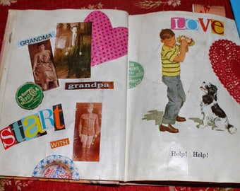 Childhood Memories Altered Art Digital Collage Sheet Set of 4