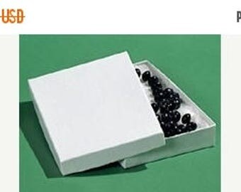STOREWIDE SALE 20 Pack Cotton Filled white Color Jewelry Gift and Retail Boxes 5.25X 3.75X 1 Inch Size