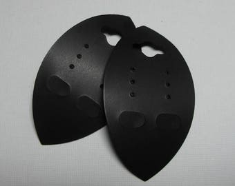STOREWIDE SALE 50 Pack Black PVC and Paper Marquise Shaped hanging 2.75 X 1.5 Inch Earring Cards
