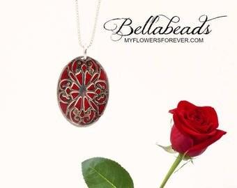 Flower Petal Jewelry, Memorial Beads, Memorial Gift Idea, Keepsake Jewelry, Funeral Flower Jewelry, Bradley Pendant