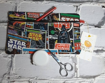 Star Wars Inspired Pencil Case, Knitting and Crochet Notions Pouch