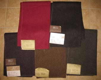 Gorrivan Brugge Espresso Solid Berber Designer FABRIC SAMPLE Highland Court Upholstery Brown or Aubergine