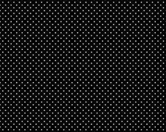 White Swiss Dot On Black  (C670 110)