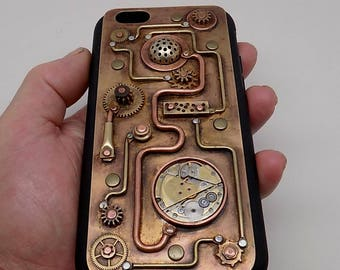 Steampunk iphone 6,6s case. mobile phone case. iPhone cover.