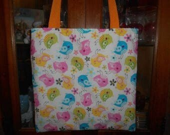 Bird Toss Tote Bag Tweet Tweet Little Birdie Handmade Purse Summer Fun