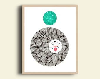 Moon soul art print