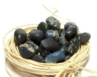 Slag Glass Undrilled Stones BLUEBERRY Rocks Lelandite Beach Blue Pebbles Art Zen Jewelry Wave-Tumbled Glass Rocks Large Lapidary