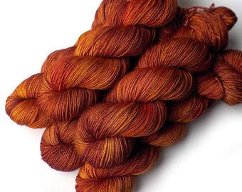 Boston Bouncy Sport Superfine Merino Silk Handdyed Yarn Blood Orange