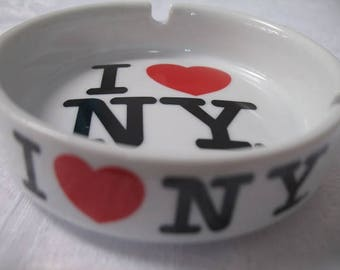 I Love New York Collectible Ash Tray Souvenir Omiyage