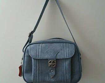 Vintage American Tourister Weekender Overnight Bag in powder blue