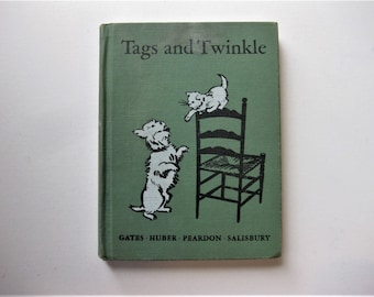 Vintage Tags and Twinkle Book, Jim and Judy School Book, 1945