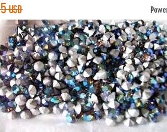 50% OFF Vintage Swarovski Crystal Starlight AB 5.4mm Round (24ss) Faceted Austrian Rhinestones (12)
