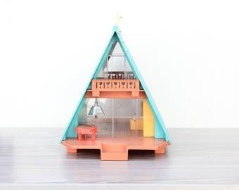 Vintage 1970s A-Frame House