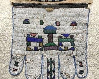 OnSale Antique Ndebele Women's Wedding Apron On Goat Skin