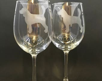 Beagle Wine Glasses (set of 2)
