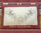 Sunflower Garland-Primitive Stitchery Pattern-E-PATTERN-by Primitive Stitches-Instand Download