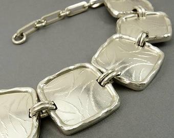 Vintage Oranium Paris Necklace Silver Tone Links Haute Couture