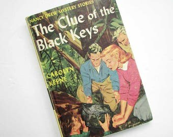 Nancy Drew Mystery Book, 1951 Vintage Nancy Drew, Young Adult Books, Girl Detective, Girl's Books,  Clue of the Black Keys