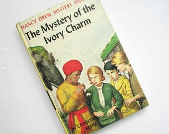 Nancy Drew Mystery Book, 1950's  Vintage Nancy Drew, Young Adult Books, Girl Detective, Girl's Books,  Mystery of the IvoryCharm