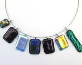 Sparkly glass pendant, di...